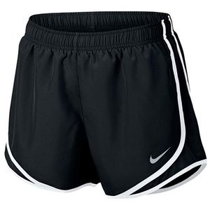 Black and White Nike Tempo Shorts XS